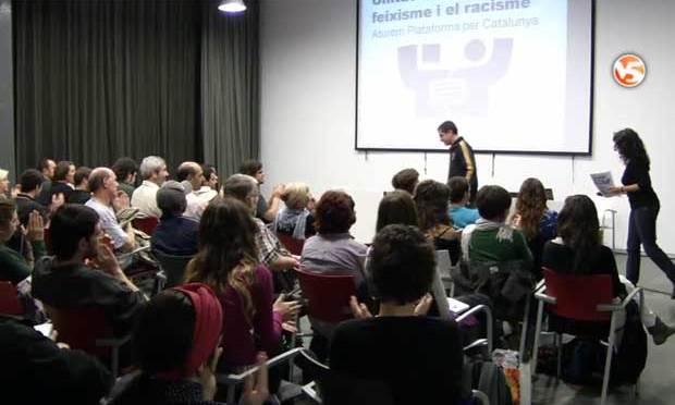 Presentació d'Unitat Contra el Feixisme: reportatge de V5NOTÍCIES