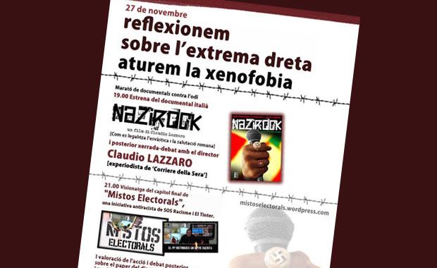 27 de novembre: Reflexionem sobre l'extrema dreta, aturem la xenofobia