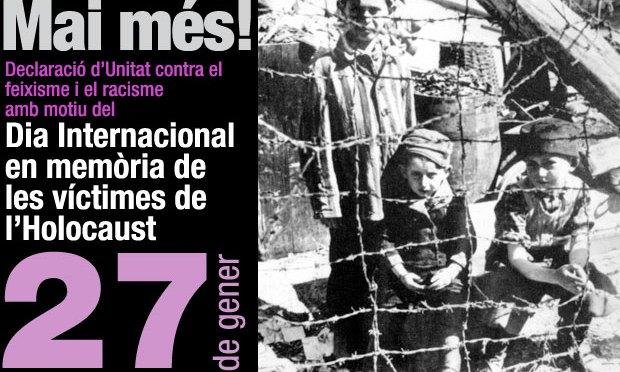 Declaració amb motiu del Dia Internacional en memòria de les víctimes de l'Holocaust