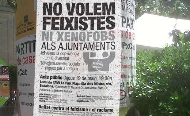 Acte públic: No volem feixistes ni xenòfobs als ajuntaments
