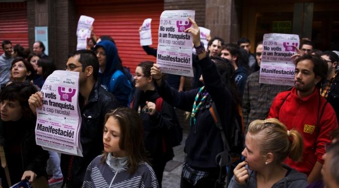 El barri de les Corts ha plantat cara al feixisme