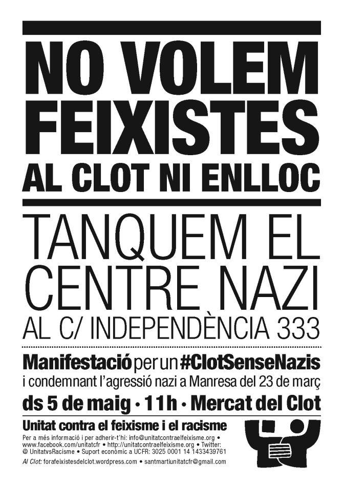 URGENT: Canvi de data de la manifestació: ara és el 5 de maig