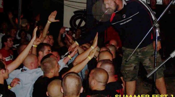 Un concert organitzat per Blocco Studentesco, el grup estudiantil de Casa Pound, amb una clara estètica nazi.