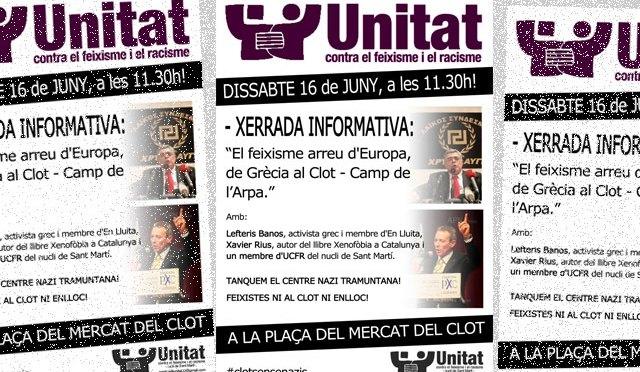 Ds 16 de juny: Xerrada: Feixisme arreu d'Europa: de Grècia al Clot-Camp de l'Arpa