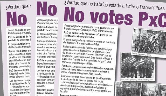 ¿Verdad que no habrías votado a Hitler o Franco? Pues… No votes PxC