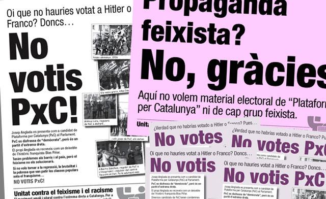 Oi que no hauries votat a Hitler o Franco? Doncs… No votis PxC