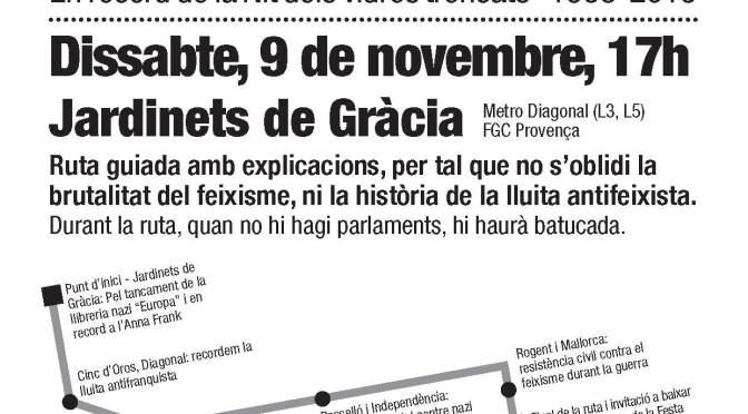 Ruta contra el feixisme – 9 de novembre