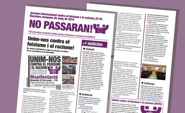 Full informatiu d'activitat unitària contra el feixisme i el racisme · 25/02/14
