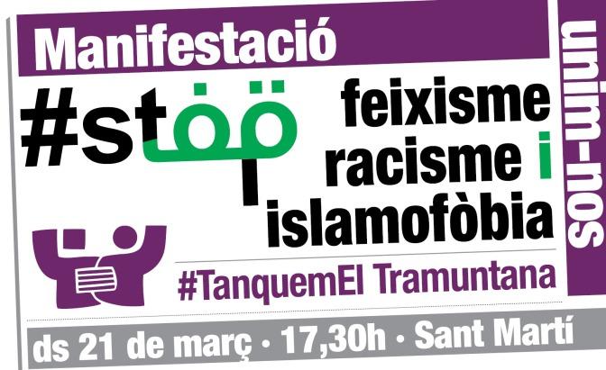 Manifestació: #M21 Stop feixisme, racisme i islamofòbia