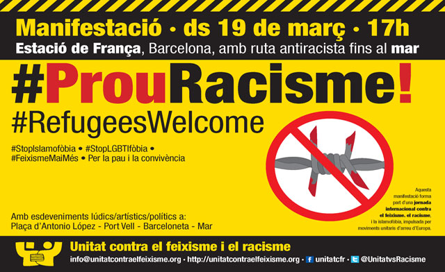 Manifestació #ProuRacisme19M