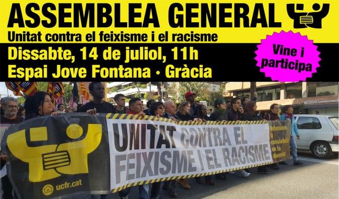 Assemblea General d'Unitat contra el Feixisme i el Racisme – 14-J