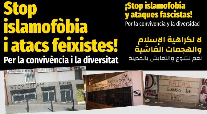 Concentració: #StopIslamofòbia, #FeixismeMaiMés · ds 28-J · Carmel