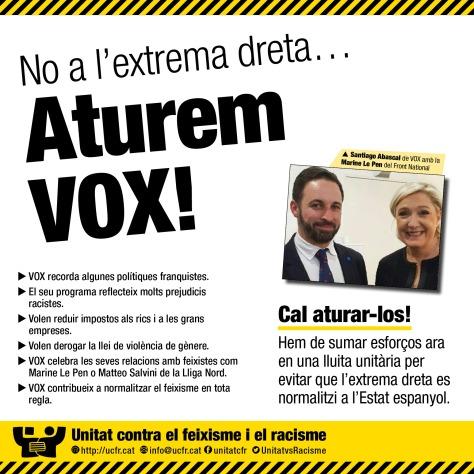 UCFR_Aturem_VOX_cartel_CAT 2018b
