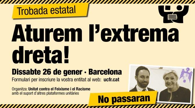 Trobada estatal per aturar VOX · 26G · Barcelona