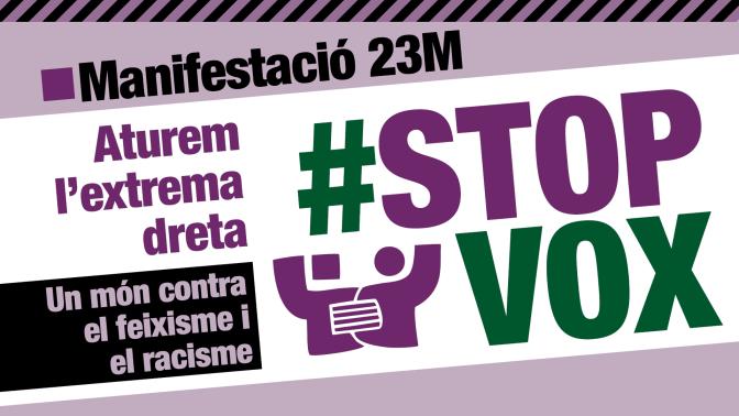 Manifestació #23MStopVox
