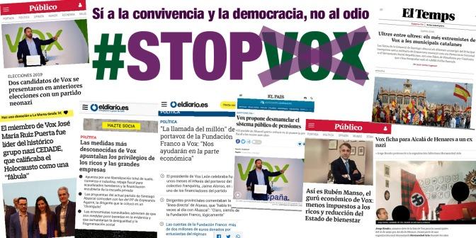 #STOPVOX: Sí a la convivencia y la democracia, no al odio