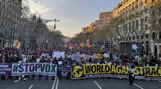 Manifestación #21m: #BastadeRacismo, #StopVOX