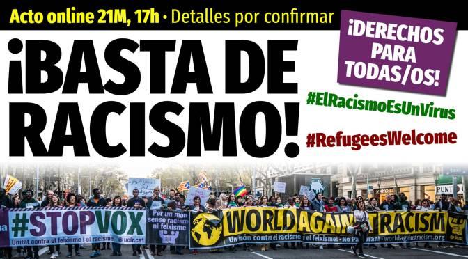 Manifestación pospuesta #21m: #BastadeRacismo, #StopVOX