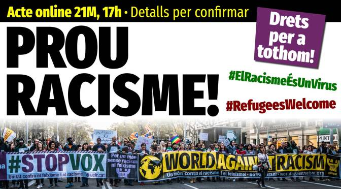 21M online, #WorldAgainstRacism,  #RefugeesWelcome
