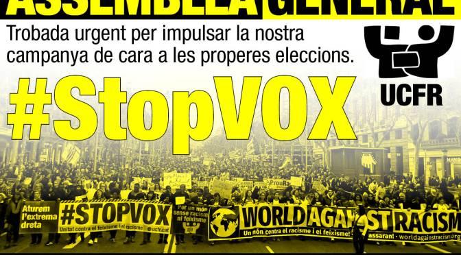 Assemblea Urgent d'UCFR · Aquest dissabte, 19.30h  · #STOPVOX EL 14F