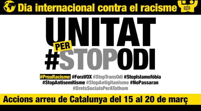 20 de març: jornada internacional contra el racisme i l'extrema dreta